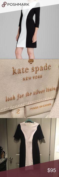 Kate Spade Tillie Dress Kate Spade Tillie Colorblock Dress. Size 2. In excellent condition. No markings or pilling. kate spade Dresses