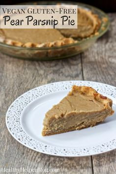 Vegan Pear Parsnip Pie | Healthy Helper @Healthy_Helper Juicy pears combine with spicy-sweet parsnips in the most unique pie you've ever had! Vegan, gluten-free, and delightfully creamy, this pie will be your new seasonal favorite.