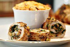 Två små kök: Parmesan-, spenat- och baconfylld fläskfilé med potatisbakelse