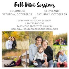 cleveland columbus ohio fall mini sessions photographer photography family couples engagement newborn lifestyle portrait