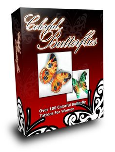 Colored Butterfly Tattoos