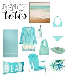 """""""At the beach @nc4you"""" by nc4you on Polyvore featuring Mode, Ralph Lauren Home, DutchCrafters, Calypso St. Barth, BAGGU, Monsoon, ELIZABETH HURLEY beach, Sachajuan, Summer und Blue"""