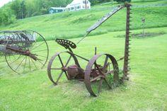 Antique Farm Equipment   ANTIQUE FARM MACHINERY horse drawn mower