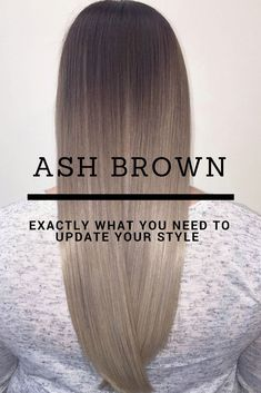 Ash brown hair colors with their smoky and cool green blue and grey undertones let you upgrade your brown locks in a subtle stylish way. Lets see our ideas! Ash Brown Hair Color, Ash Hair, Hair Color And Cut, Light Brown Hair, Ash Brown Ombre, Brown Colors, Brown Blonde, Blue Brown, Balayage Hair