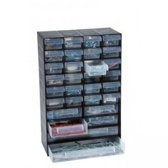 EXCESS STOCK SALE NEW RAACO RED 50 x Drawer Storage//Organiser Cabinet EAN:127271