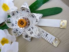measuring tape brooch with sewing notions by IGottaHaveTHAT