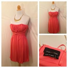 Max & Cleo Strapless Dress size 2