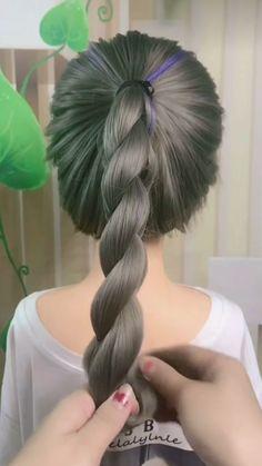 Easy Hair Up, Hairdo For Long Hair, Easy Hairstyles For Long Hair, Braids For Black Hair, Fancy Hairstyles, Braided Hairstyles, Black Hair Video, Flower Girl Hairstyles, Cool Hair Color