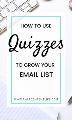 Using Quizzes To Grow Your Email List - Making a quiz is a great lead generation tool to help you grow your email list for your business. Business Entrepreneur, Business Marketing, Email Marketing, Online Business, Online Quizzes, Research Question, Personality Quizzes, Your Email, How To Attract Customers