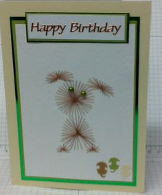 Little hand made puppy card