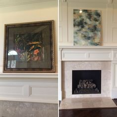 Updated artwork on study mantle Home Staging, Mantle, Study, Artwork, House, Home Decor, Studio, Work Of Art, Decoration Home