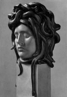 The Gorgon, Medusa Greek Monsters, Female Monster, Medusa Gorgon, Roman Sculpture, Beautiful Snakes, Marble Art, Bad Hair Day, Greek Mythology, Looks Cool