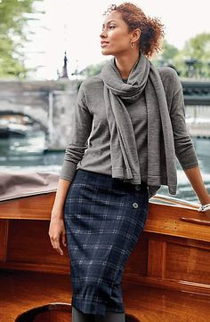 ca03cda4b Image for Three-Button Wrap-Style Knit Skirt from JJill Knit Skirt, Wrap