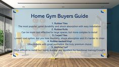 Protect your joints, overall health and subfloor with home gym flooring options from your friends at Summit 💪 💪 💪 #gym #homegym #flooring #crossfit #fitness #guide #experts #rubber #cork #carpet #vinyl