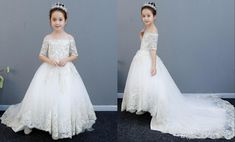 New Arrival Beige Flower Girls Dresses For Wedding 2020 with Sleeves Long Train Applique Off the Shoulder Cheap First Communion Dress 2020 Vintage Luxury Princess Girl Dress Girls Pageant Dresses Toddler Infant Girls Kids Formal Prom Evening Dresses Online with $99.41/Piece on Stunningdress88's Store | DHgate.com Flower Girls, Flower Girl Dresses, Evening Dresses Online, Girls Pageant Dresses, Princess Girl, Infant Girls, Communion Dresses, Formal Prom, Toddler Dress