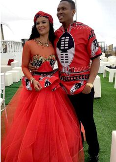 Soccer star Kagisho Dikgacoi gets hitched in secret traditional wedding with Carina Mckechnie- Sowetan LIVE//in swaziland!Carina Mckechnie//Date et lieu de naissance : Swaziland African Print Dresses, African Print Fashion, African Wear, African Attire, African Fashion Dresses, African Women, African Dress, Xhosa Attire, African Outfits