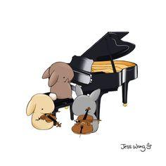 """Jess Wong, """"Bunny Trio"""""""