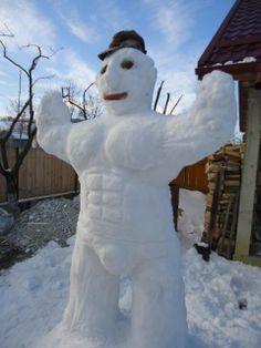 This is a real SNOWMAN