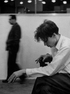 Gordon Parks LIFE Magazine March 1955 | Columbia recording studio, New York | Pianist Glenn Gould listening intensely while a section of his performance of Bach's Golderg Variations is played back.