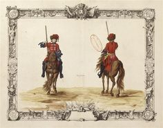 Cavalrie Legeres Hussars of the Maison du Roi circa early 18th century.