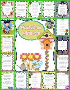 A collection of spring poems (15) and (6) ideas on how to implement in your class.  Poems are great for fluency and comprehension. This set is perfect for your poetry station. https://www.teacherspayteachers.com/Product/Poemas-para-la-primavera-Spring-Poems-in-Spanish-1706960