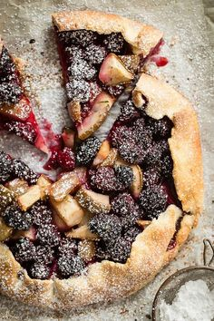 Blackberry and Pear Galette with Rosemary - Foodness Gracious