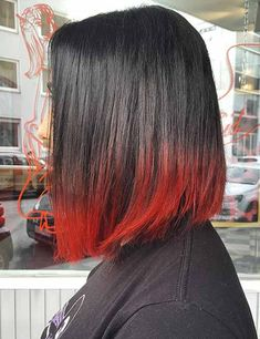 22 fiery red ombre hair color ideas black reddish hair color 13 best black and red ombré red and black … Reddish Hair Color, Cool Hair Color, Hair Colour, Red Ombre Hair, Blond Ombre, Short Bob Hairstyles, Cool Hairstyles, Natural Hairstyles, Summer Hairstyles