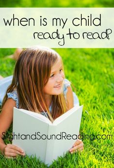 Reading Readiness -When is my child ready to read?