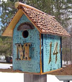 Recycled birdhouse...love