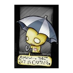 Awww...The Sky Is Crying   Pon And Zi Comics ❤ liked on Polyvore featuring pon and zi, cartoons, pon & zi, pictures, quotes, text, phrase and saying