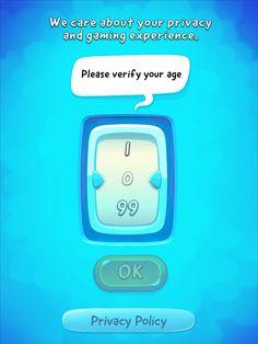 CUT the ROPE 2 | Age Gate | UI, HUD, User Interface, Game Art, GUI, iOS, Apps…
