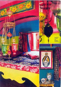 Jeanne Bayol colorful interiors of Romany Caravan
