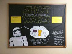 Star Wars themed alcohol awareness bulletin board.