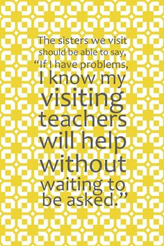 August 2012 Visiting Teaching Message