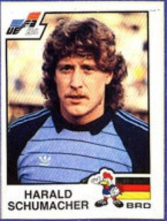 Harald Schumacher · Germany World Football, Football Soccer, Football Players, Football Stickers, Football Cards, Germany Football, Association Football, Sports Stars, Trainer