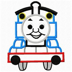 4x4 and 5x7 Thomas the Train Applique Machine Embroidery Applique Design Pattern fits hoops 5x7 and 4x4. $2.99, via Etsy.
