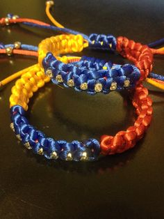 Venezuela Flag Bracelet yellow/blue/red with 7 by MathyShop