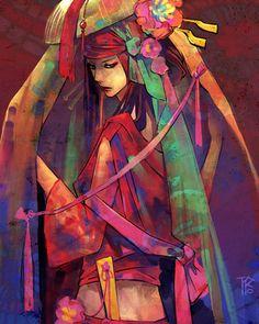 Seductive Geisha Digital Art Inspiration