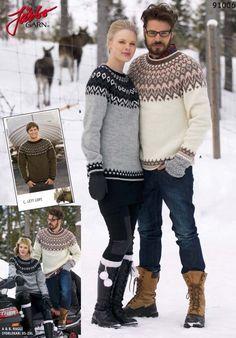 91006 Islandsk trøje ''unisex'' Gratis Opskrifter
