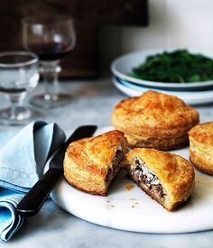 Australian Gourmet Traveller recipe for duck and goat's cheese Pithiviers.