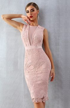 Summer Women Bandage Dress Vestidos Verano 2019 New Tank Sexy Lace Mesh Sleeveless Bodycon Clubwears Celebrity Party Dress Color Pink Size XS Cute Summer Dresses, Cute Dresses, Bodycon Dress Parties, Party Dress, Elegant Dresses, Beautiful Dresses, Rehearsal Dinner Dresses, Black Dress Outfits, Tube Dress