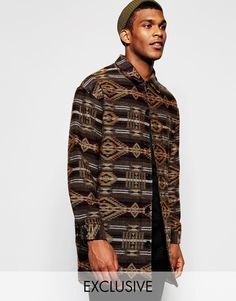 Image 1 of Reclaimed Vintage Aztec Cocoon Coat