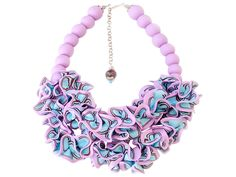 Colorful Ruffle Necklace by Sara Amrhein Firenze | Statement Necklaces | AHAlife.com