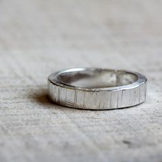 Men's tree bark wedding ring - praxis jewelry