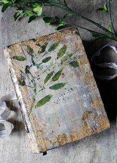 Botanical wedding theme guest book print of original bamboo