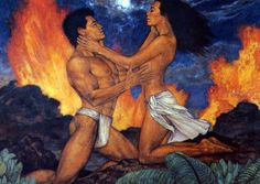 The goddess, Hi'iaka (sister of goddess Pele) is wooed by the mortal Lohi'au, former lover of the fire goddess Pele who consumes then in flames of rage