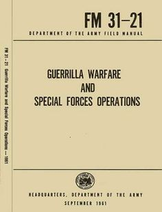 US Army Guerrilla Warfare and Special Forces Operations - Rational Survivor has been putting together Digital Downloads for the Prepper