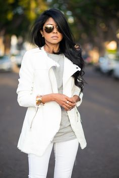 Fall Outfit - All White - Jacket