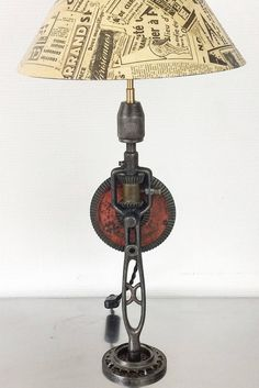 upcycling ideas diy lamps bedside lamp rnrnSource by fallon_simmons Tall Lamps, I Love Lamp, Rustic Lamps, Steampunk Lamp, Pipe Lamp, Unique Lamps, Bedroom Lamps, Bedside Lamp, Lampshades