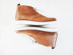 Unisex Boots Handmade genuine leather unisex ankle boots in tobacco (light brown) retro style color. Stylish and comfortable booties with soft and warm Desert Boots Women, Handmade Jewellery, Unique Jewelry, Retro Fashion, Mens Fashion, Retro Style, Leather Boots, Ankle Boots, Warm